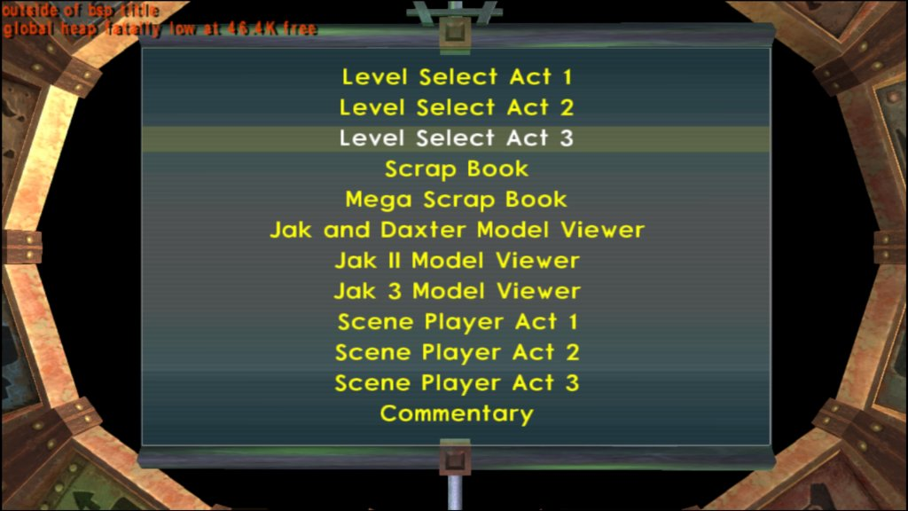 Level Select Act 3